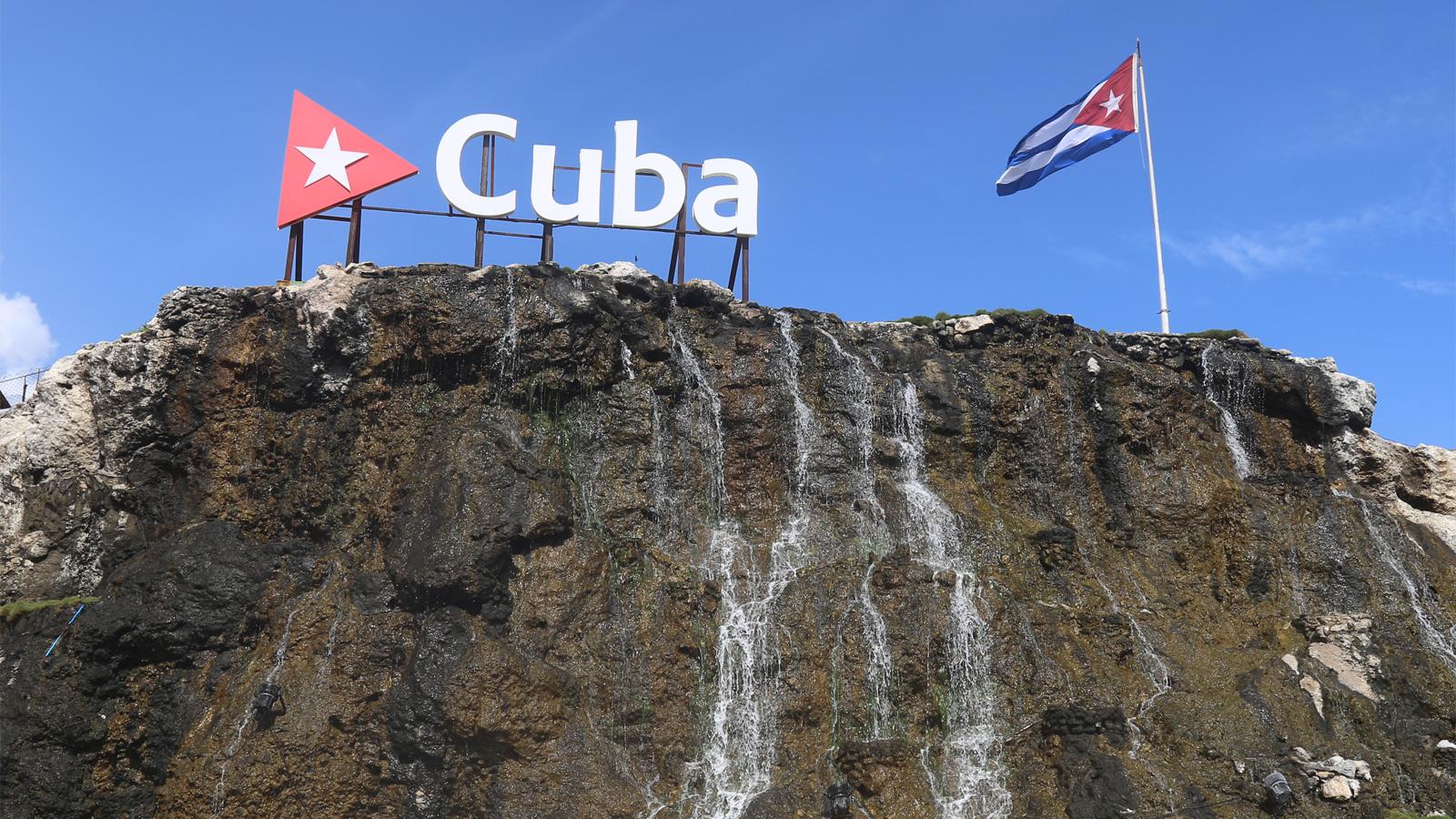 Waterfall at the Hotel Nacional de Cuba, Havana, Cuba