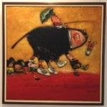 Pedro Pablo Oliva (1991). Saturno enseñando a pasear a sus hijos [Oil on canvas painting]. Havana, Cuba: Museo Nacional de Bellas Artes de La Habana